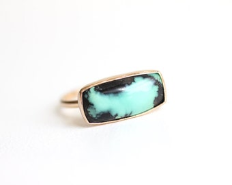 Variscite Ring in Recycled 14k Yellow Gold
