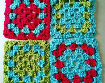 Granny squares - Merino Wool -made to order