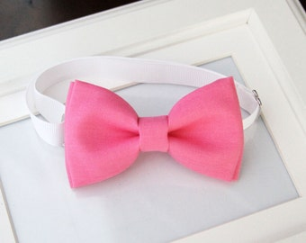 Rose Pink bow-tie - baby bow tie - boy bow tie - adult bow tie - kids bow tie - Adjustable neck-strap - Pink bow tie