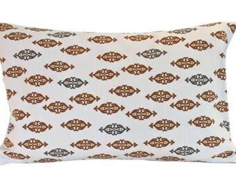 Dwell Studio Lumbar Pillow in Brown and Grey