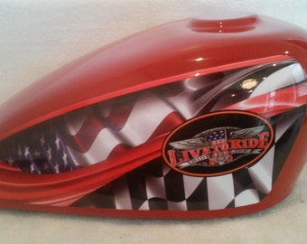 309 Red Adult or Double Motorcycle Gas Tank Memorial Cremation Urn-Live to ride