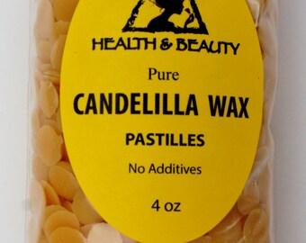 4 oz CANDELILLA WAX Flakes Organic VEGAN Pastilles Beards Premium Prime Grade A 100% Pure