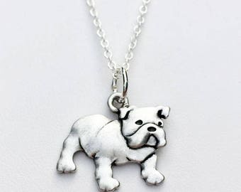 Bulldog Charm Necklace