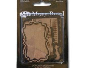 Maya Road - Kraft Journaling Tags - Decorative