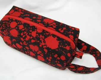 Blood Spatter Dexter Inspired Halloween Cosmetic Bag Makeup Bag LARGE