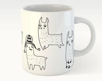Happy alpacas - cute mug