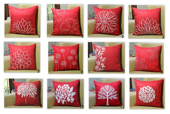 poppy petal design red home decorative pillow product pillows decor contemporary