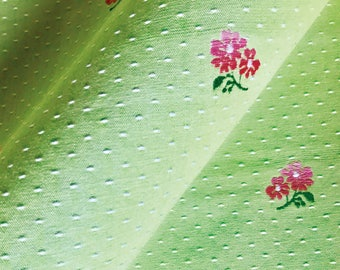 Spring Green With Pink Floral Upholstery Fabric