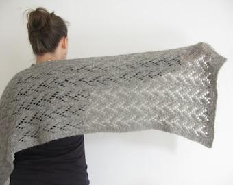 PATTERN Felted Lace Wrap Knitting Pattern PDF / Felted Lace Scarf Knitting Pattern / Felted Lace Shawl Knitting Pattern