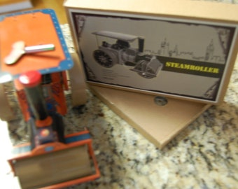 TIN TOY--Large Size Steam Roller   - Must see- New in Box