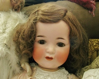 Antique Armand Marseille 990 Bisque Character Baby Doll, 24""