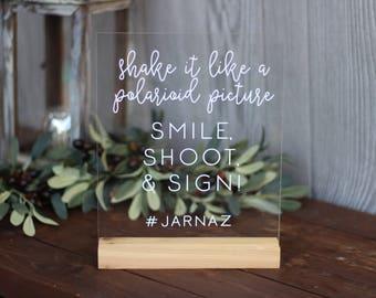 Custom Acrylic Photobooth Sign / wedding / event / photo booth