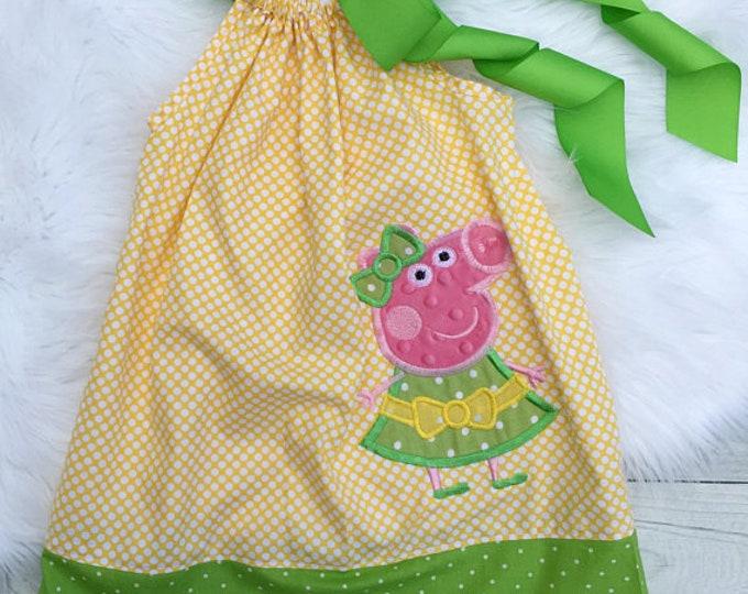 Peppa Pig Birthday Pillowcase Dress