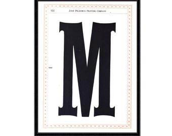 Antique typography print (No.3) vintage wooden typeface print font specimens print typography print vintage fonts antique font print