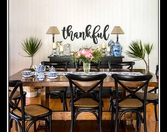 Thankful Word Sign Wall Art Cut Out