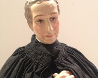 Vintage Statue of Priest - Religious Statue - Marked Barsanti - Made in Italy