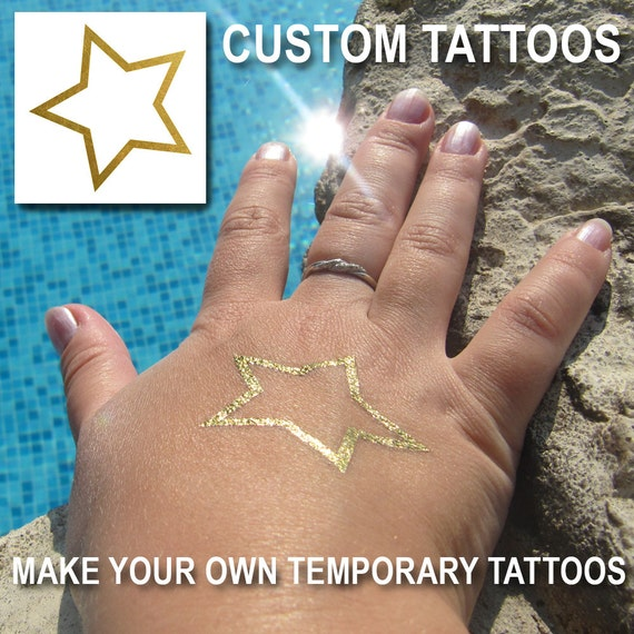 Custom Temporary Tattoos Make Your Own Metallic Tattoos
