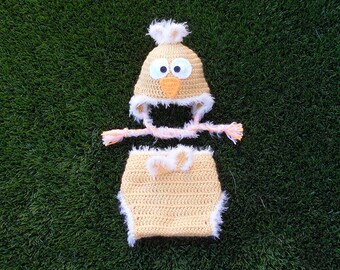 Crochet Baby Little Chick Hat and Diaper Cover