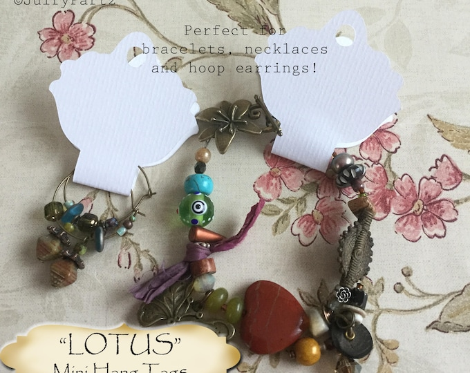 36•4.25L x 2W•LOTUS•Hang Tags•Jewelry Cards•Earring Display•Necklace Tag•Hoop Earring Holder