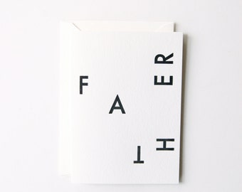 Father -  Letterpress Printed Greeting Card
