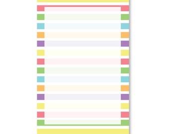 Rainbow Stripe Notepad