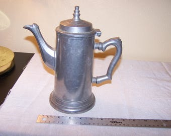 Vintage Pewter Duratale by Leonard made in Italy Teapot Coffeepot