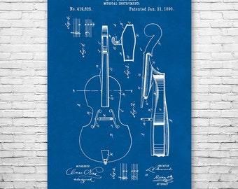 Cello Poster Patent Art Print Gift, Cello Wall Art, Cello Patent, Cellist Gift, Cello Player Gift, Cello Teacher Gift, Music Teacher Gift