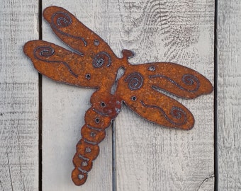 Delicieux Charming Dragonfly Garden Stake Metal Art Plasma Cut By Hand Garden Decor  Metal