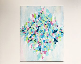 """Original Painting, Abstract Painting, Abstract Art, Wall Art, Fine Art, Affordable Art, Acrylic Original Painting """"Garden Stroll"""""""