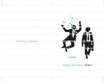 LDS Missionary Birthday Card for Elders