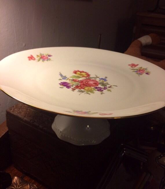 & Vintage Princess House German Cake Stand Cake Plate