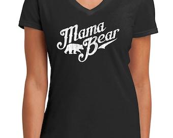 Mama Bear, Shirt For Mom, New Mom Shirt, Mama Bear Tshirt, Papa Bear, Baby Bear, Mama Bear V Neck, New Mom Gift