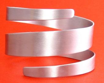 Modernist Aluminum Spiral Bangle Bracelet