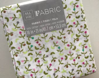 fabric Fat Quarter, cotton, sewing materials, quilting supplies, haberdashery, sewing notions, floral
