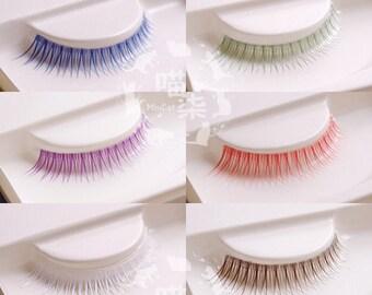 Eyelash lashes BJD sd msd yosd transparent base brown red purple blue green white