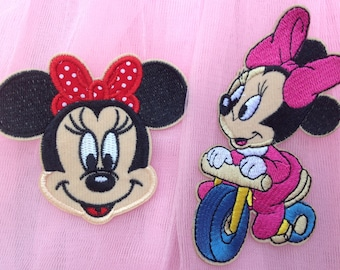 Embroidered Minnie Mouse Iron on Patch Iron on Applique