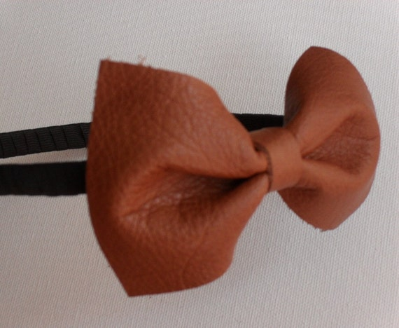 Mona Leather Headband - Camel