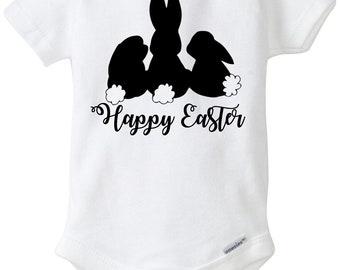 Happy Easter Baby Onesie Bunnies