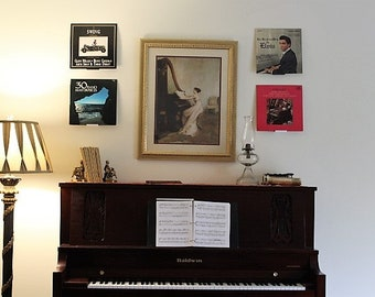 Record Album Display/Wall Mount | Command Strip Included | Easy Installation | Damage Free Walls | 3D Printed | Buy 4 Get 1 Free