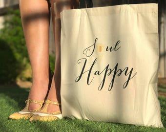 TOTES, SOUL HAPPY (Custom Canvas Bag)