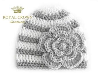 Newborn Girl Hat, Crochet Baby Hat, Newborn Girl Beanie, Knit Newborn Hat, Baby Girl Hat,  Newborn Baby Hat, Crochet Newborn Hat