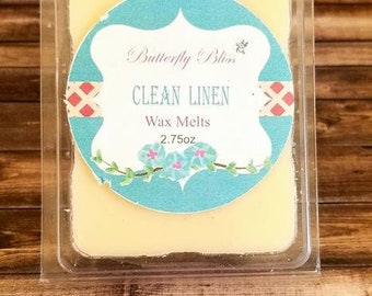 Clean Linen | Wax Melts | Wax Cube | Home Fragrance | Linen Wax Melts | Cotton Melts | Tarts | Soy Wax Melt | Soy Wax | Candle | Cotton