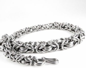 Byzantine Chainmaille Triple Strand Necklace