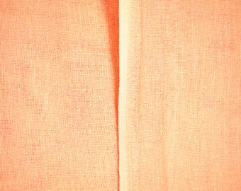 "1/2 YARD, MUSLIN GAUZE, Sherbet Orange Solid, 40"" Wide Craft or Fashion Fabric, Sheer Lightweight Cotton, B34"