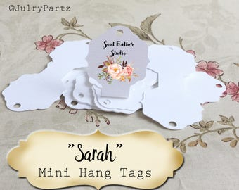 45•3.25L x 1.5W•SARAH•Hang Tags•Jewelry Cards•Earring Display•Necklace Tag•Hoop Earring Holder