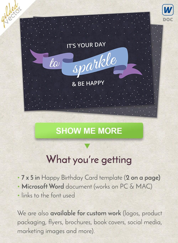 DIY la chispa y ser Happpy cumpleaños tarjeta cinta