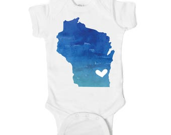 Wisconsin Love Baby Onesie
