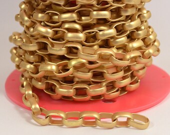 Large Oval Rolo Chain - CH135 - Matte Gold - Choose Your Length