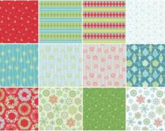 Sparkle Fat Quarter Bundle, 13 Pieces, Amanda Murphy, Contempo Studio, Precut Fabric, Quilt Fabric, Cotton Fabric, Christmas Fabric