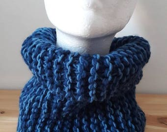Set of 2 adult and child cowls knit